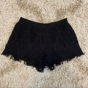Black Knot Lace Shorts